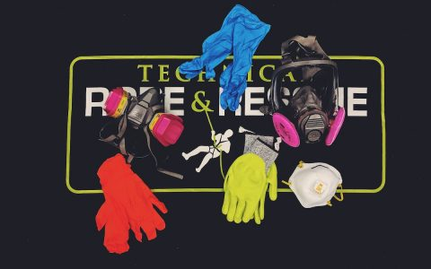 Photo of various gloves and masks PPE